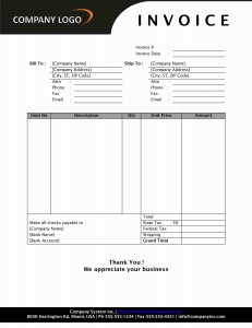 Simple Sales Invoice