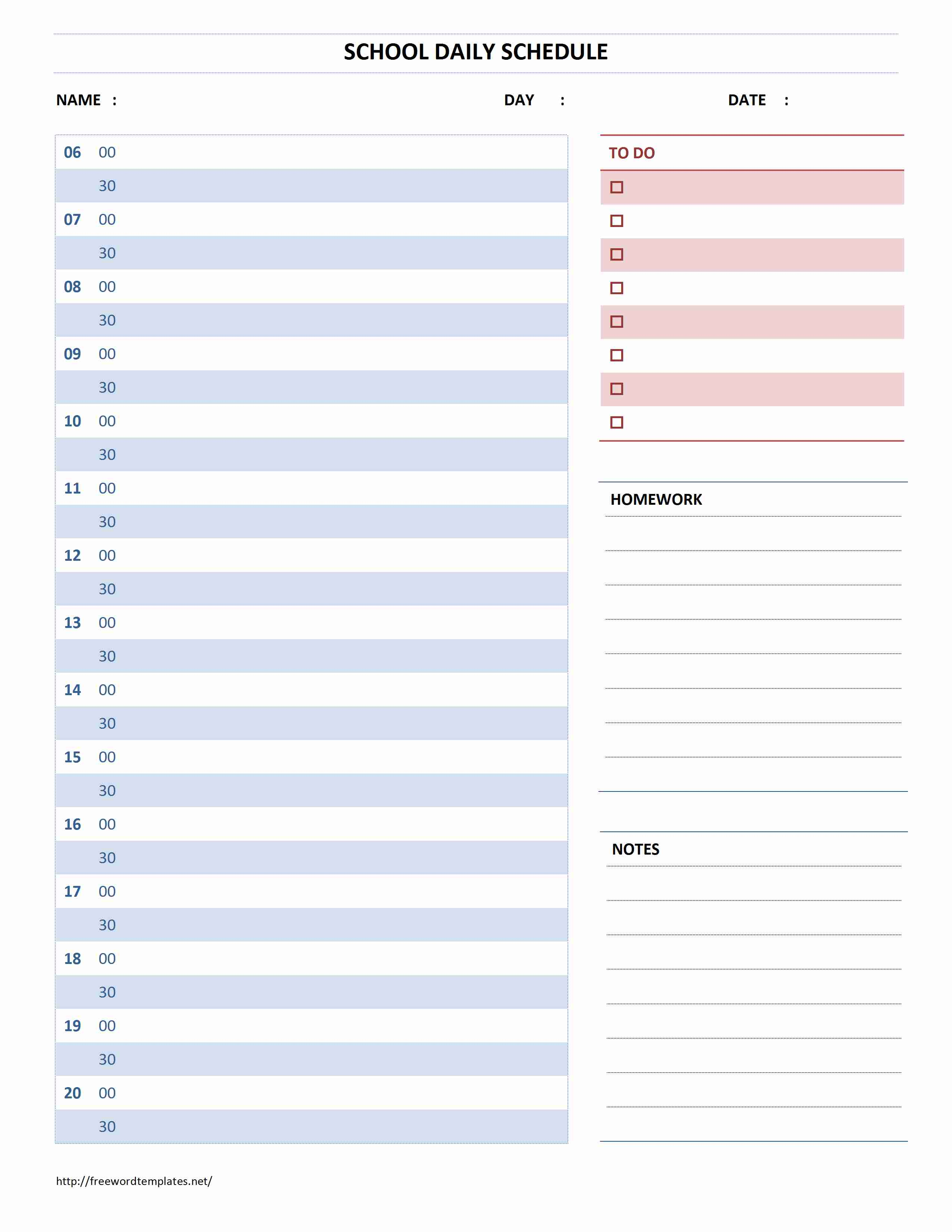 Perfect Freewordtemplates.net And Daily Calendar Template Word