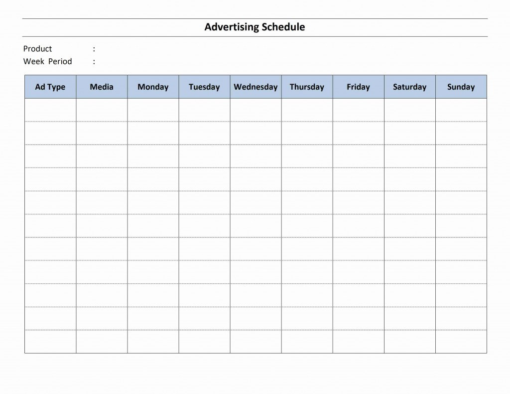 radio schedule template