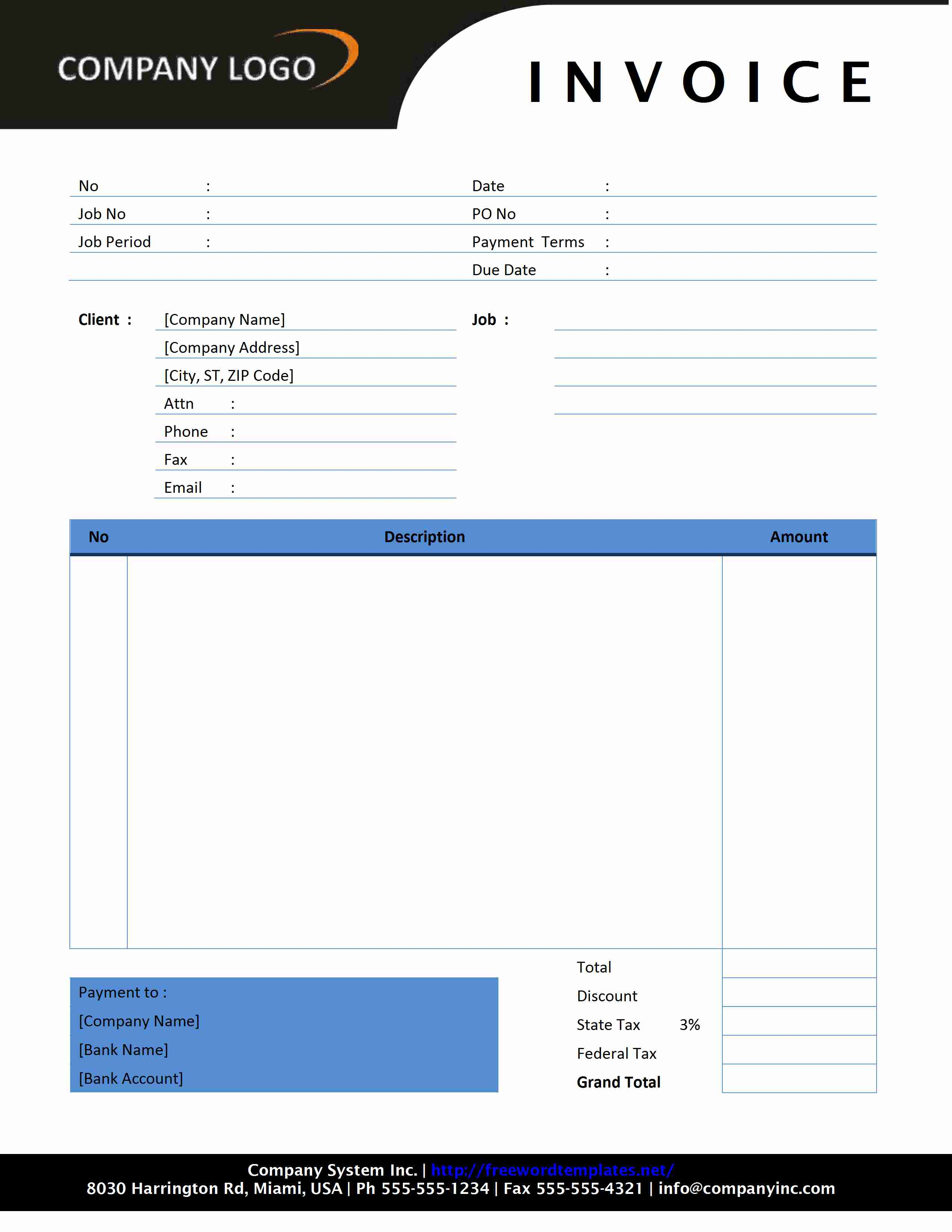 Photography Invoice - Free printable service invoices for service business