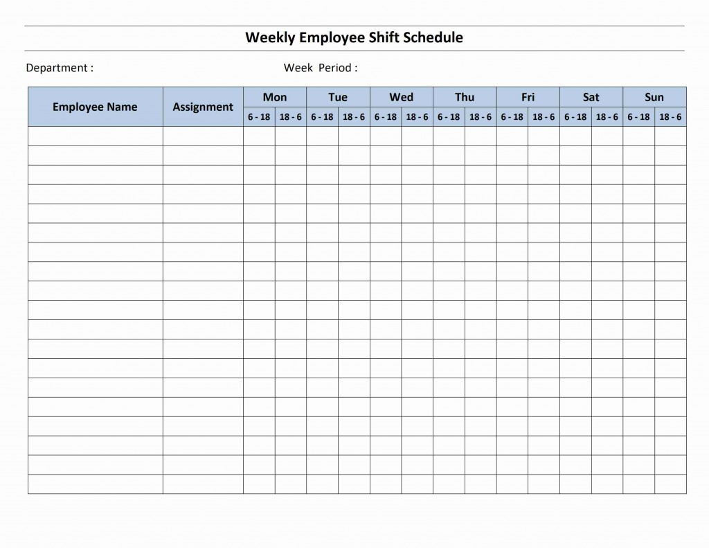12 Hour Shift Schedule