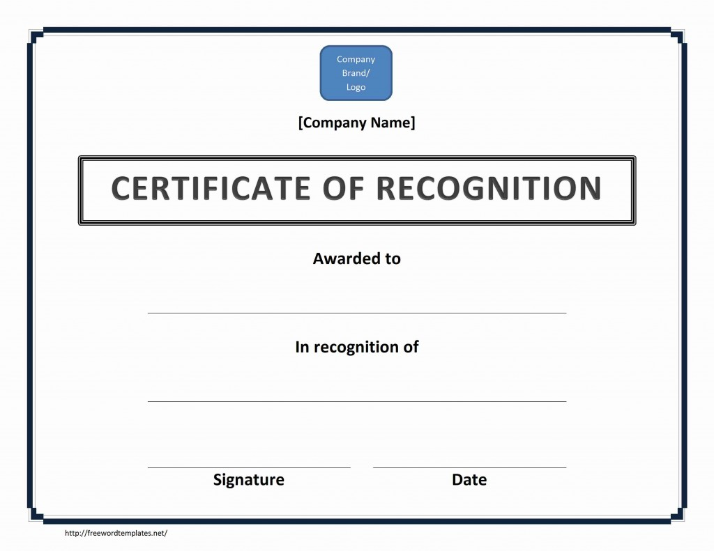 Certificate of Recognition | Word Templates | Free Word Templates | MS ...