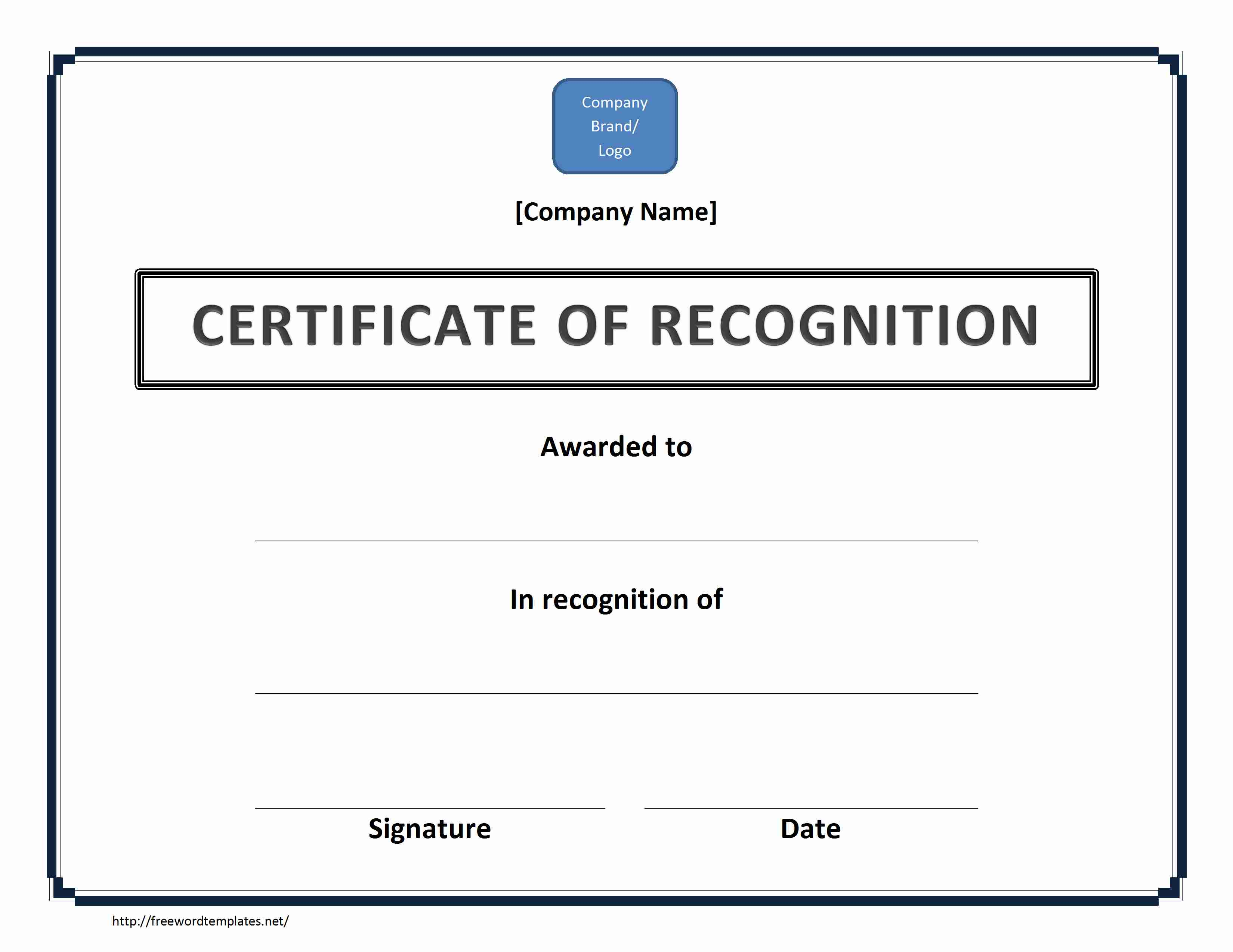 Appreciation Certificate Templates For Word