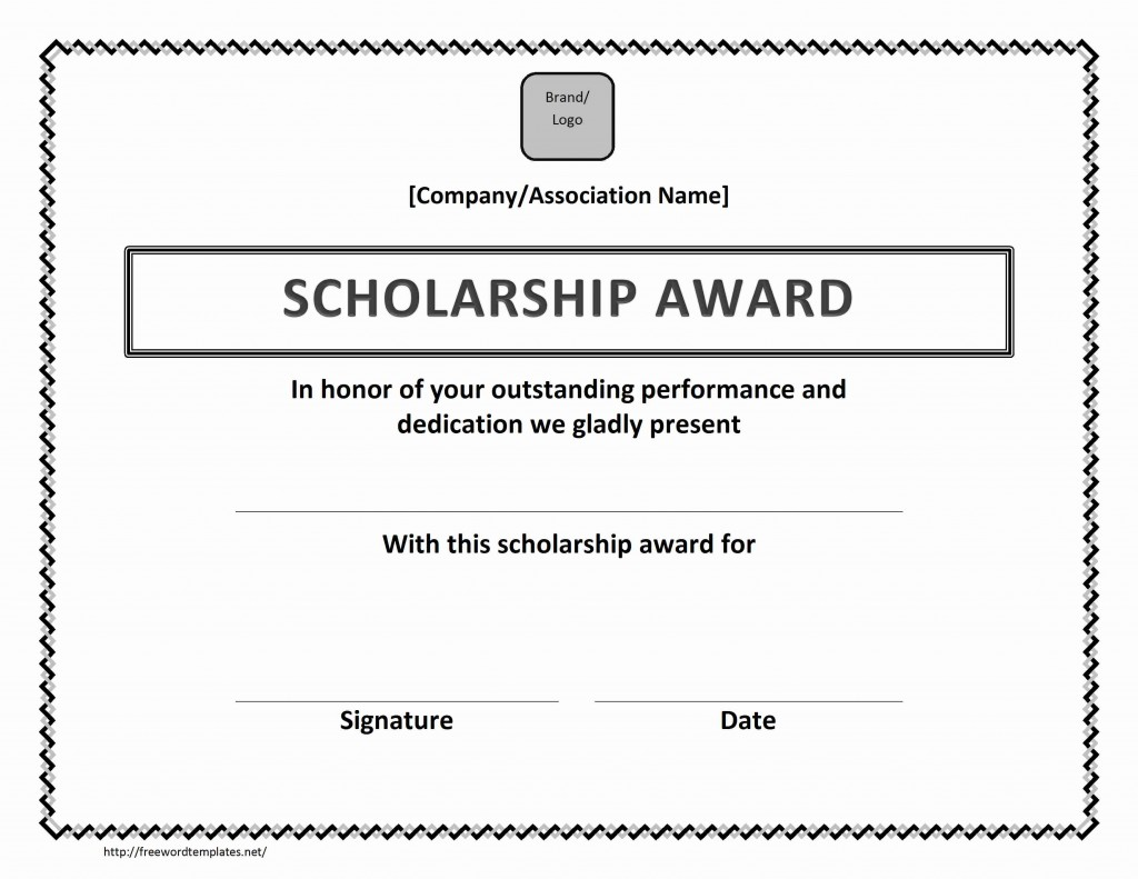 Scholarship Award Template for Excel