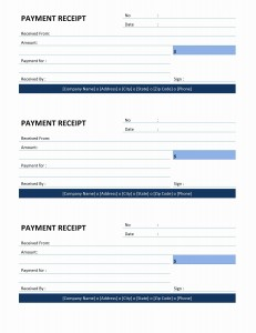 Payment Receipt Template for Word