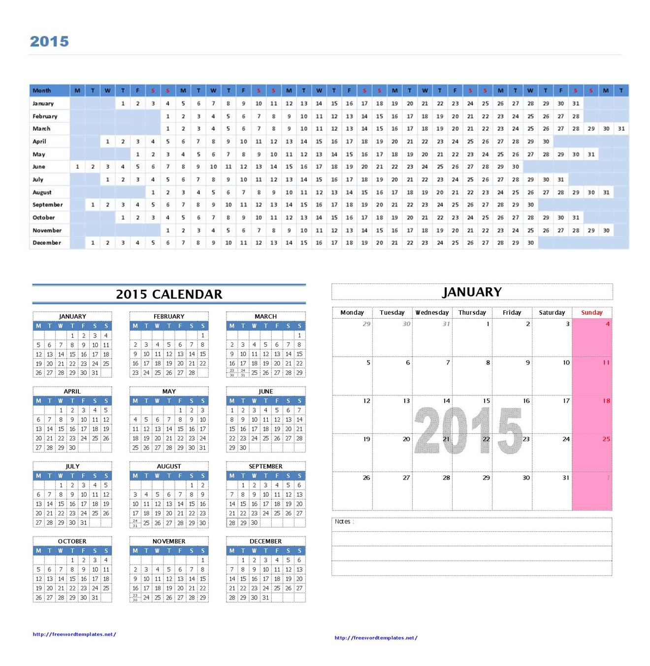 2015 calendar templates for Australian calendar template 2015