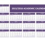 2015/2016 Academic Calendar Templates