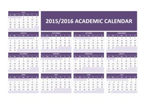 2015-2016 Academic Calendar - Word