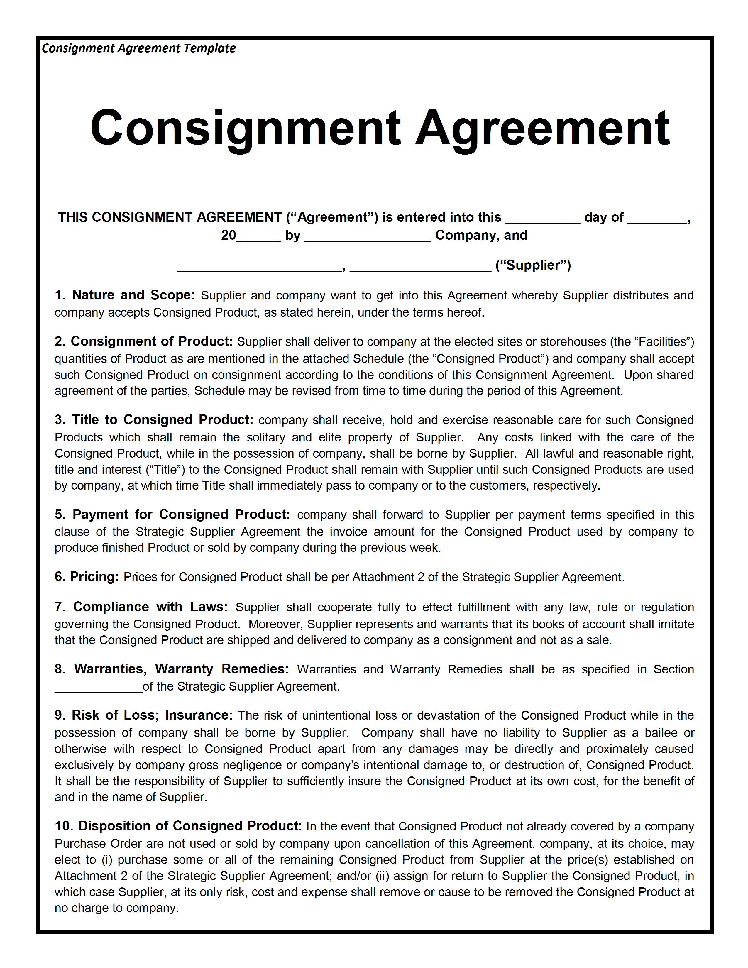 Freewordtemplates.net  Agreement Template Word