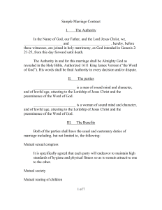 Marriage Contract  Sample in Microsoft Word