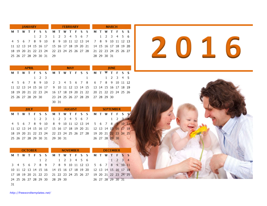 2016 Photo Calendar Model 2