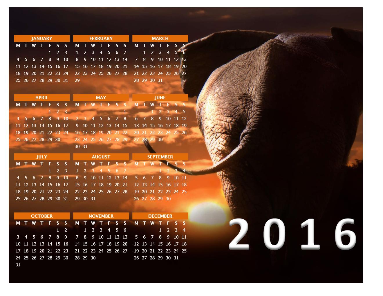 2016 Photo Calendar Model 3