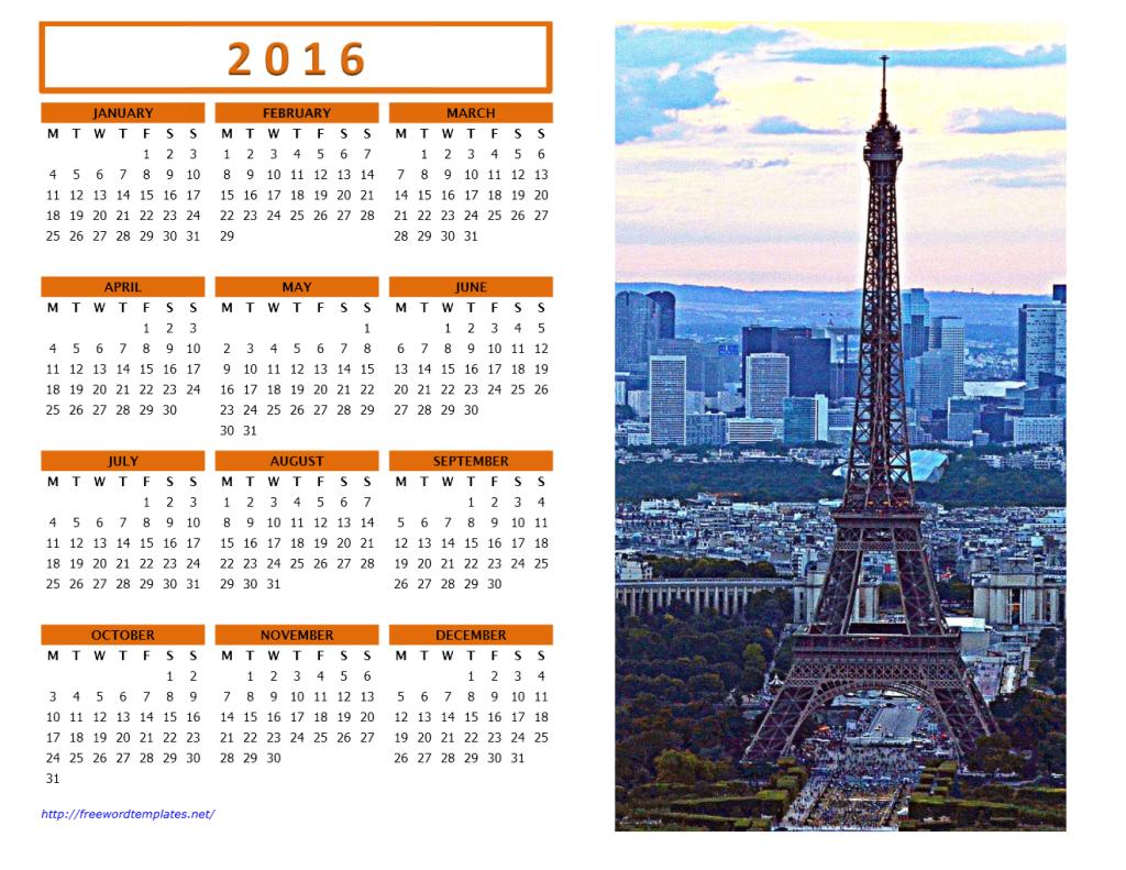 2016 Photo Calendar Model 4