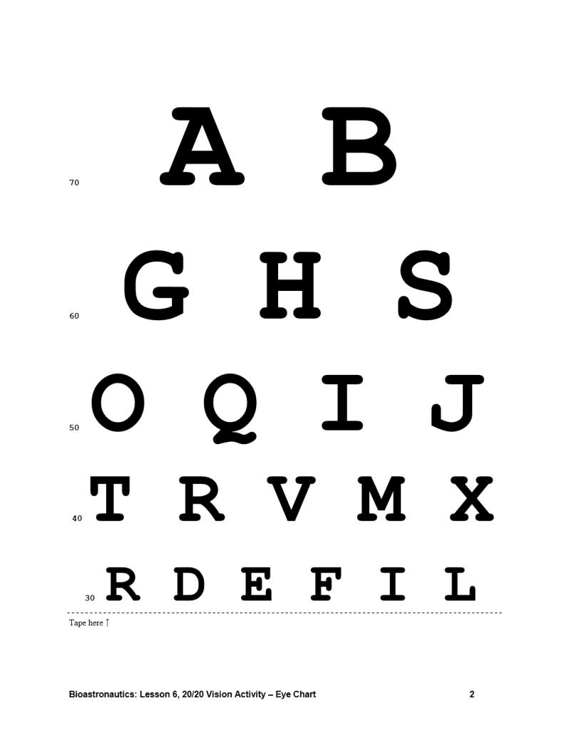 Eye Chart Template