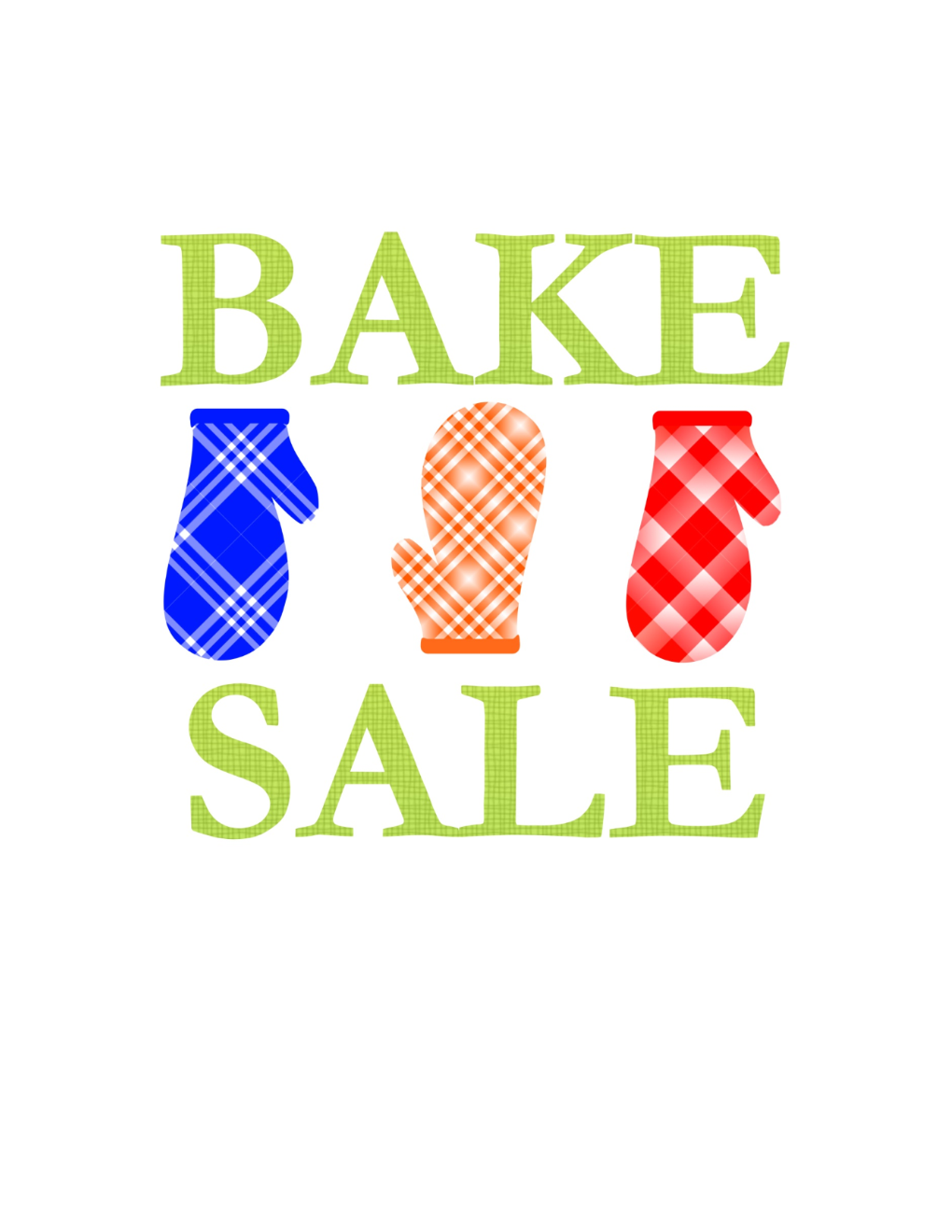Bake Sale Sign Template