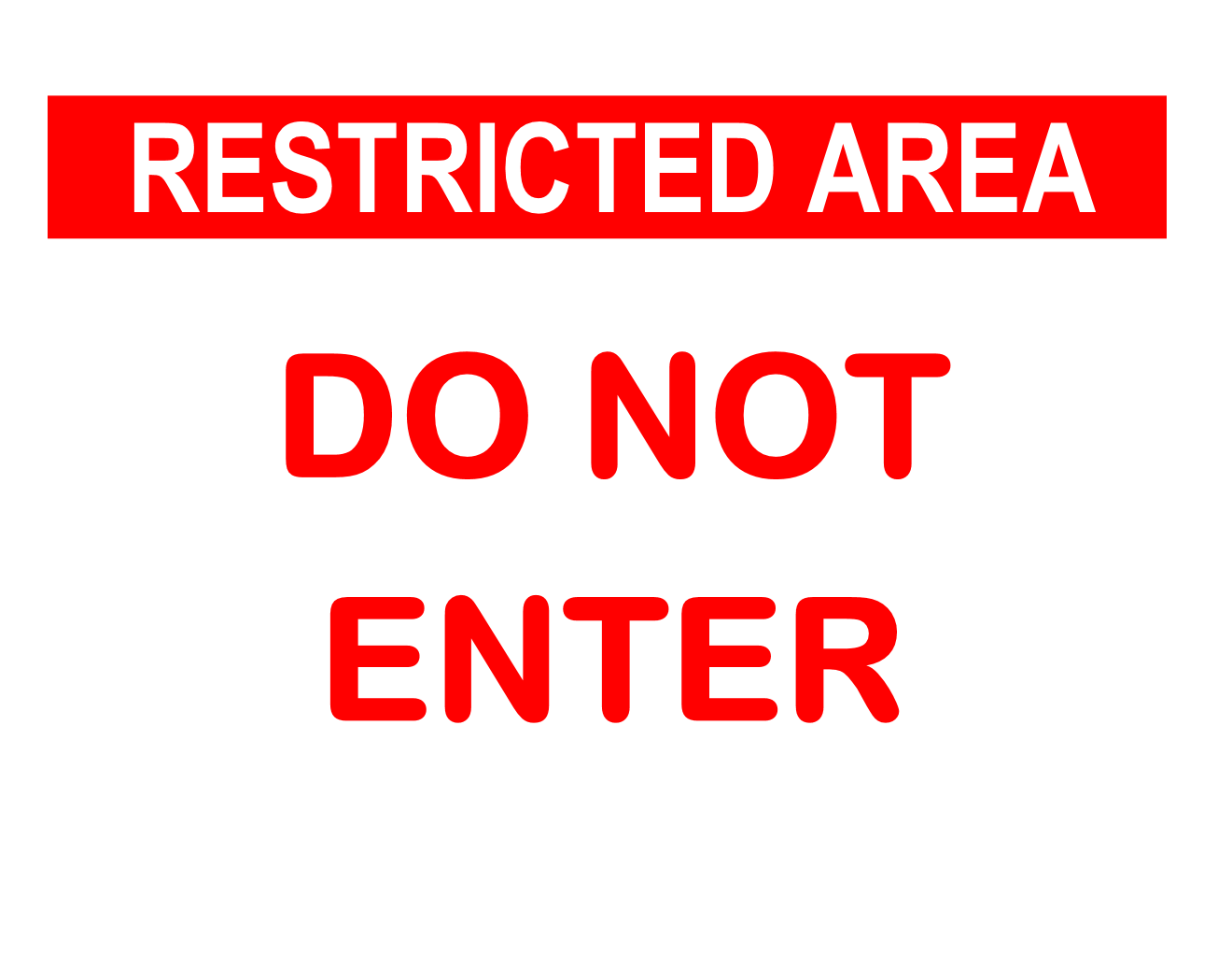 Do Not Enter Sign Template