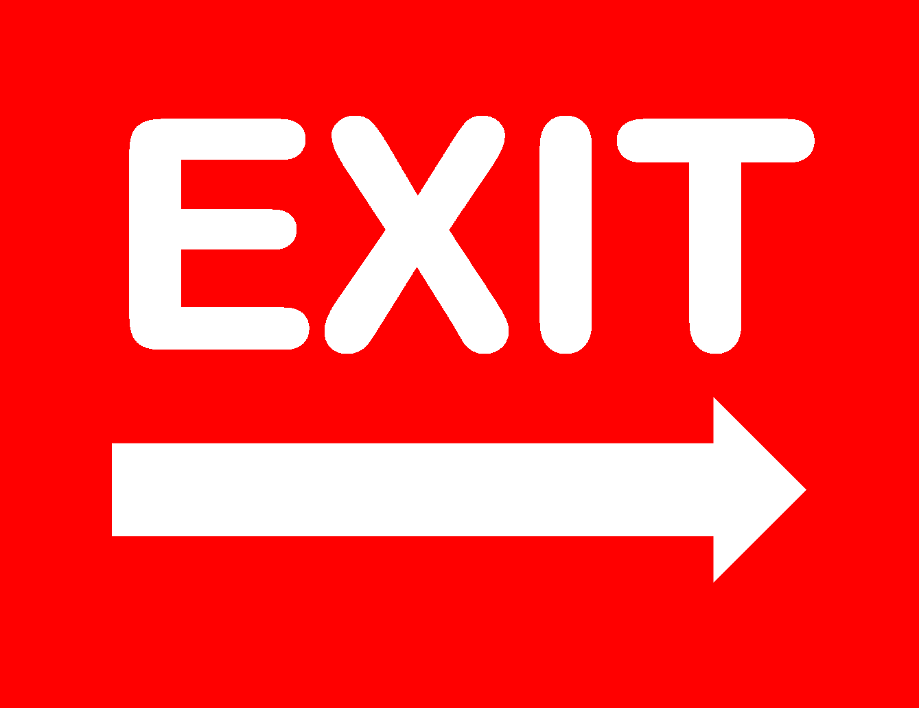 Persnickety image pertaining to printable exit sign