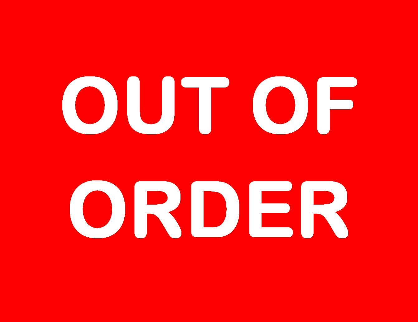 Out of order sign printable the image for Bathroom out of order sign