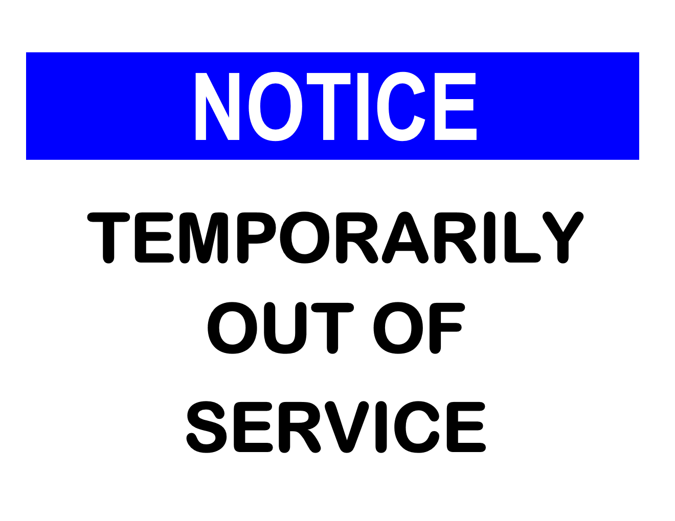 Out of Service Sign Template
