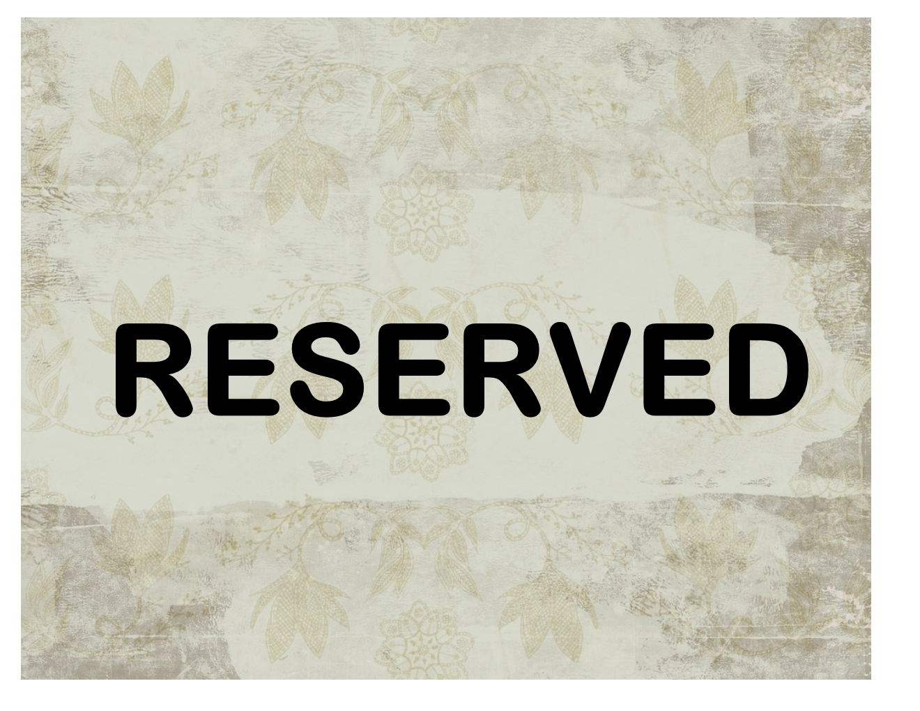 Reserved sign for Reserved seating signs template