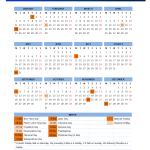 2016 USA Public Holidays Calendar