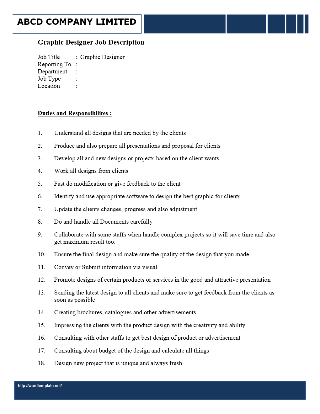 lance graphic designer job description template lance graphic designer job description