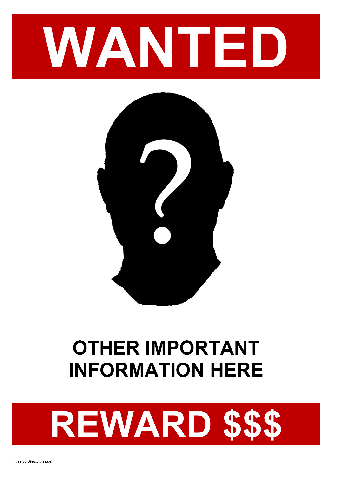 missing posters template – Missing Person Posters