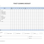 Toilet Cleaning Checklist Template