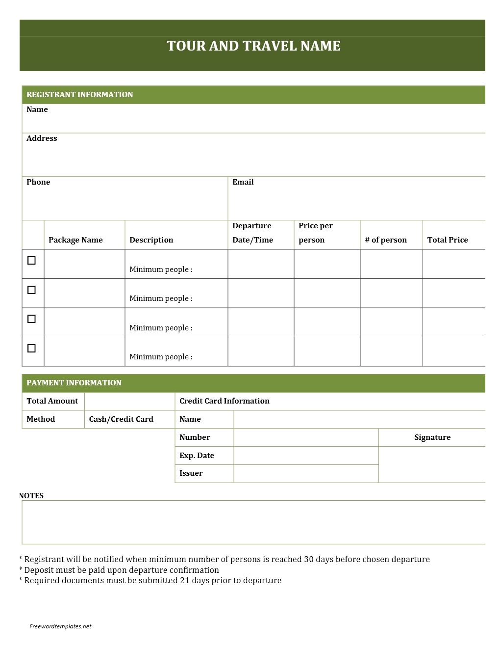 Free Registration Form Template Word. workshop registration form ...