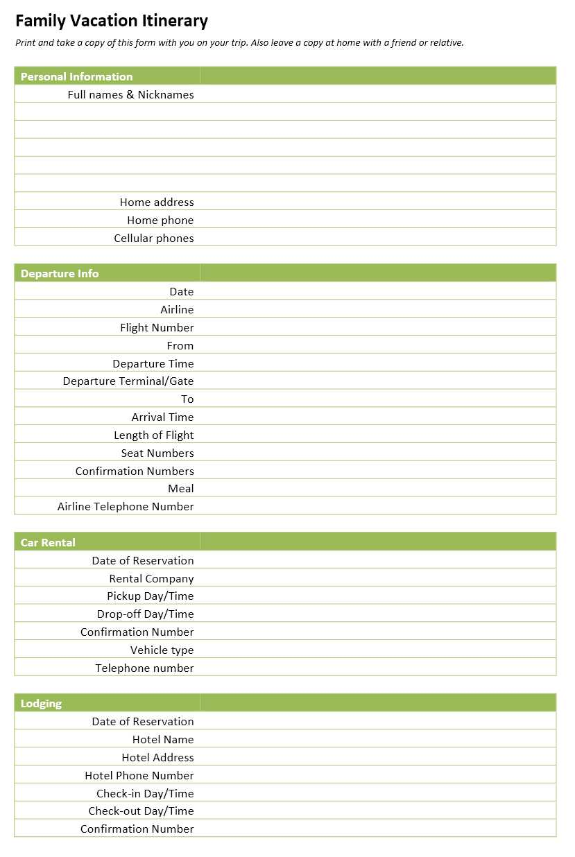 Family Vacation Itinerary Template (16.6 KiB, 154 hits)