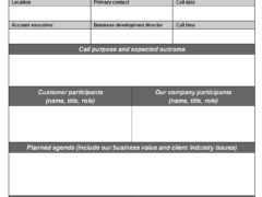 Sales Call Checklist Template for Word