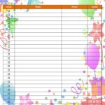 Birthday Party Invitation Checklist