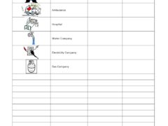 Emergency Contact List Template for Word