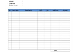 Goods Receiving Form Template for Word
