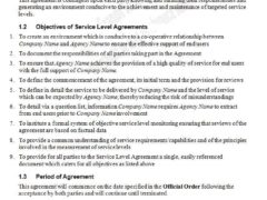 Service Level Agreement Template for Word