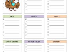 Thanksgiving Dinner Checklist Template for Word