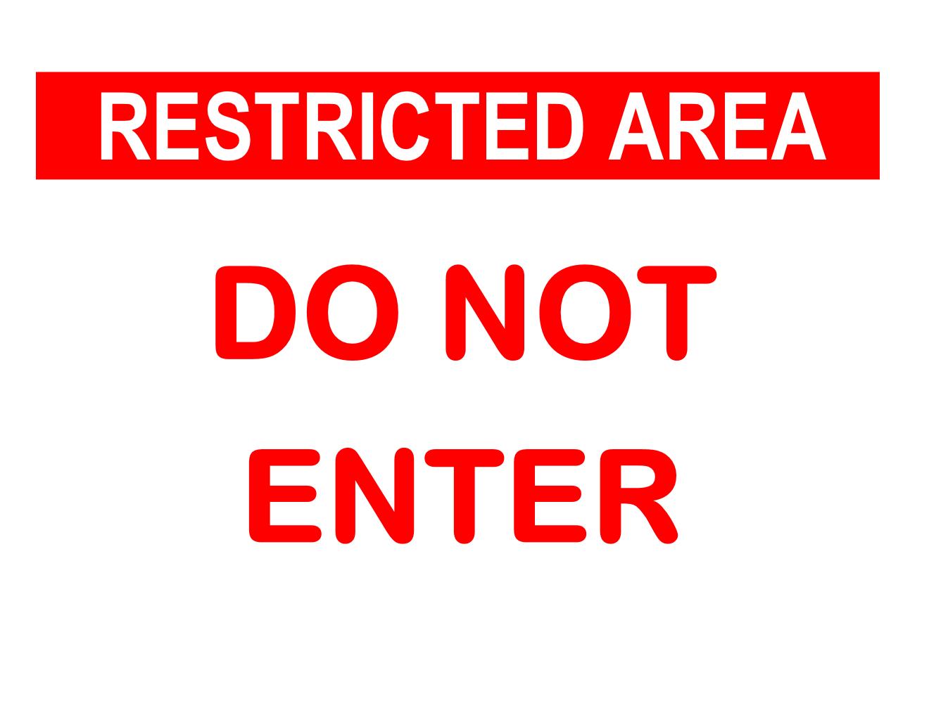 Do Not Enter Sign Template