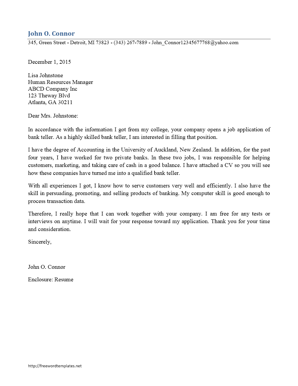 bank teller cover letter template archives